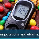 Candies and blood glucose meter