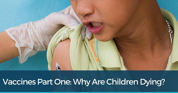 Child getting vaccine